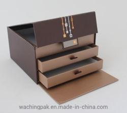 Коричневый многоуровневый сдвиньте лоток жесткого коробки для хранения постели в салоне