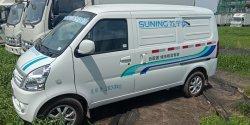 Поездка на микроавтобусе с Lithuim логистических электрического заряда аккумулятора