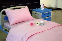 Bande de couleur Rose de Satin polyester coton Ensemble de literie à l'hôpital