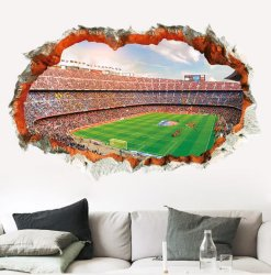 Coupe du Monde de Football de bricolage Champ vert Sticker Mural les fans de football