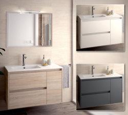 浴室のFurnitur 75 90ミラーAppl LED流し磁器Nojaの家具浴室家具Suspende