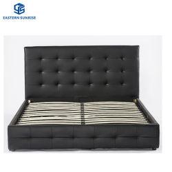 Quarto luxuoso mobiliário Tamanho Duplo Cama moderna estrutura de couro
