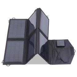 panel solar plegable 60W DC USB portátil plegable de batería de coche Cargador Solar fábrica ISO