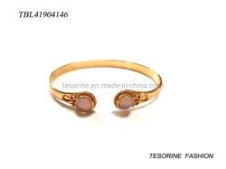 Bijoux de fantaisie Fashion Design Crystal pierre avec une demi-cercle Drum Bangle