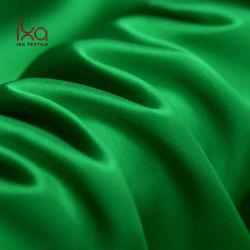 Pajamar Brilhante Charmeuse 100% Mulbery Plain Tingidos de planície de Dubai Tecido acetinado de seda