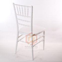 Starkes Metallweißer Harz Chiavari Stuhl mit dem Metallknochen