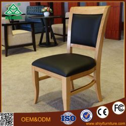 Hotel de estilo europeu de tecido de revestimento de madeira Soft lounge cadeiras de jantar