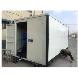 Self Storage pliage conteneur de stockage mobile de plancher en contreplaqué avec des roues