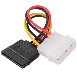 Serial ATA SATA IDE Molex mâle 4 broches pour disque dur SATA 15 broches femelle câble adaptateur d'alimentation