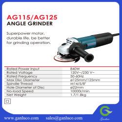 Herramienta de potencia 840W 115mm/125mm amoladora angular AG115 / AG125