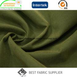 El 93% Poliéster el 7% de nylon microfibra Moss abrigo tejido de la piel de melocotón tejido chaqueta