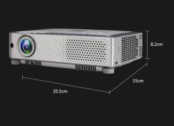 De goedkope Hoge Projector van de Resolutie van Beamer 1024*768 van de Helderheid HD 1080P Video Inheemse 3LCD voor het van het Bedrijfs theater van het Huis DagGebruik van het Onderwijs