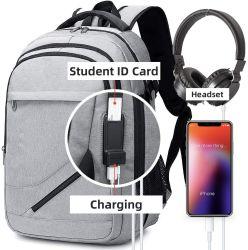 حقيبة ظهر رياضية ذات أزياء خارجية عالية الجودة من القماش لطيف ذات طراز خارجي حقيبة ظهر غير رسمية للكمبيوتر المحمول كمبيوتر ترفيهي متعدد الوظائف مع USB الشحن