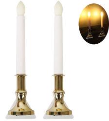 Lampada a candela senza fiamma ricaricabile luce a candela a luce sfarfallio alimentata a parete Lampada Romantica luce notturna lampada da parete con decorazione per la stagione Festival