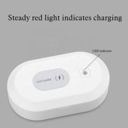 Desinfección de la lámpara UV Esterilizador de verificación para ver las teclas del teléfono inalámbrico de esterilizador con cargador