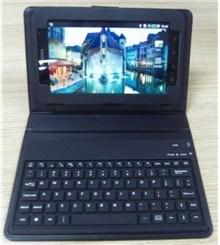 Schützendes Leather Fall With Keyboard für Samsung Galaxy Tab (GT-P1000)