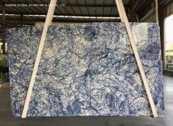 La fantasía de granito natural/losas de cuarcita Gris/Blanco/Negro/Azul Azul la tierra para la pared de mármol piso interior baldosas cortadas