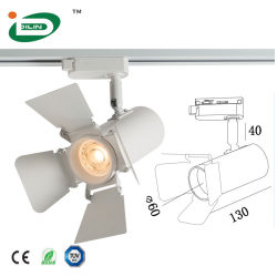 GU10 MR16 E27 상점 단계 화랑을%s 알루미늄 주거 궤도 빛 천장 LED 스포트라이트