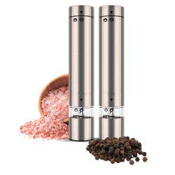 Caixa de aço inoxidável operados por bateria Moinho de especiarias elétrico seco Sal e pimenta a rectificadora definido
