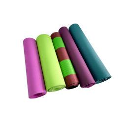 Personifizierte 6mm EVA Schaumgummi starkes Veloursleder gedruckte Yoga-Matte PU-kundenspezifische Eco freundliche TPE-Pilates mit Firmenzeichen