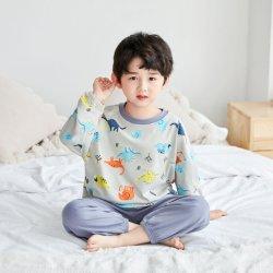 Детский хлопок одежды устанавливает новые мальчиков и девочек детского пижама домашний моды удобная печать мультфильмов малыша одежду