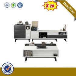 Mobiliário italiano Novo Modelo de armação de aço inoxidável branco moderno alto TV de madeira armário (IMG-6688)
