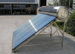 солнечный водонагреватель с вакуумными трубками нержавеющая сталь (150L-300L)