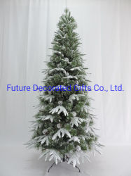 PVC/PE 팁 210cm 높이의 인조된 크리스마스 홈 장식 금속 스탠드/힌지(hinge)를 선택합니다