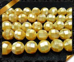 Cordões de Shell Pérola amarela, Moda Puzzle Mãe de cordões de pérola Shell (APS022)