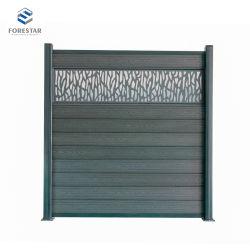 Ganze Set Dunkelgrau Frost Widerstand WPC Zaun Panel billig Haus Holz Kunststoff Composite Garten Holzzaun Einfache Installation Neu WPC-Screening