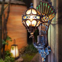 Европейского стиля LED полимер стекло настенный светильник современной декоративной крытый и открытый балкон стены коридора светильник