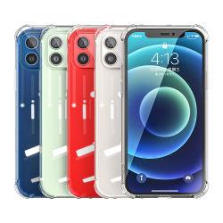 세미, 1.5mm 투명 폰 케이스, 긁힘 방지 충격 흡수 소프트 TPU 휴대폰 iPhone용 케이스 케이스 케이스 6/7/8/11/12/X/Xs/XR/PRO/PRO Max/Plus, 실리콘, 투명