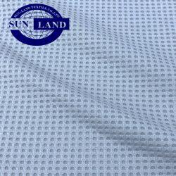 Breathable 스포츠 t-셔츠 의복 와플 니트 폴리에스테 직물