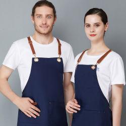 Индивидуальные пользовательские Canvas хлопка шеф-повар кухня для приготовления пищи для женщин и мужчин с фартуком