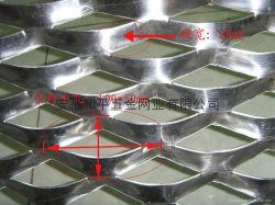 확장되는 장식적인 알루미늄/좁은 통로 철망사 (Expanded002)