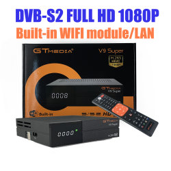 Wholesales Full HD 1080P H265 Gt Media V9 Super sintonizador DVB-S2 Descodificador Digital Cccam suporte Ethernet WiFi receptores de satélite
