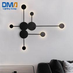거실을%s 현대 예술 6 헤드 철 벽 램프