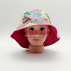 Les enfants d'impression en couleur avec court de godet de coton Hat Brim