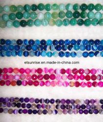 半宝石の水晶ビードの方法瑪瑙のチャーミングな宝石類(ESB01703)