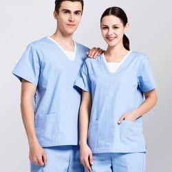 Wasbaar Ziekenhuis Uniform Short-Sleeved goed naaien voor verpleegkundige en dokter Werk uniform