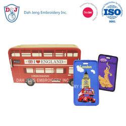 La conception des étiquettes de bagages broderie brodé de Bus Les détenteurs de carte Pass
