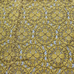 中国の高品質の層規則的なパターンナイロン綿のレースファブリック