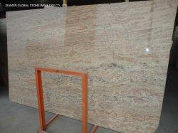 الهند الطبيعية أبيض/أسود/رخام رمادي/ألواح الكوارتزيت بجدار Madura Gold Granite المخصص قطعة الأرض إلى حجم البلاط مطبخ منضدة