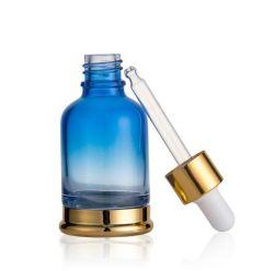 bottiglia di vetro del contagoccia del siero cosmetico 30ml con il Parte-Supporto