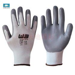 El uso industrial resistente de alta visibilidad Hi-Vis impermeable y transpirable de Palm de trabajo Guantes de cuero de grano EPI