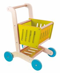 I migliori venditori fingono il giocattolo di legno del carrello di acquisto del bambino del gioco per i bambini