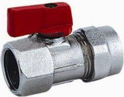 Adaptador de latón Pex-Al racor para tubo con válvula de bola Hm-31828-F1
