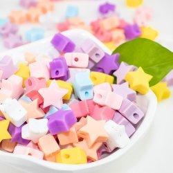 Mini Star Silicon Beads Baby teether DIY ketting Babi teetting Speelgoed voor voedselveilige siliconenkralen