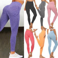 Hohe Taillen-nahtlose Gamaschen drücken Leggins-Sport-Frauen-Eignung-laufende Yoga-Hosen-Energie-elastische Hose-Gymnastik-Mädchen-Strumpfhosen hoch