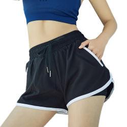 Sommer Sports Kurzschlüsse für Frauen-die anti-blitzende lose schnelle trockene Yoga-Eignung, die beiläufige Hosen laufen lässt
